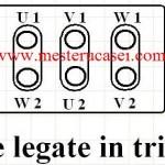 Motorul trifazic: Conexiunea triunghi.Borne_