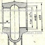 Orificiu  de asamblare filetat pt radiator coloane circulare, libere.