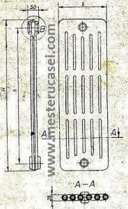 Stas 7364 Elementi de radiator cu coloane circulare libere