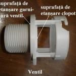 Rezervor de plastic-ventilul