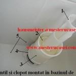 Rezervor plastic-montaj ventil si clopot