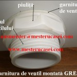 Rezervorul de plastic-garnitura de ventil