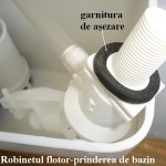 Robinetul flotor-prinderea de bazin