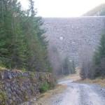 Aval de barajul de la Vidra