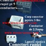 Conector rapid demontat