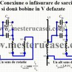 3-Conexiunea unei Singure bobine cu condensator de pornire