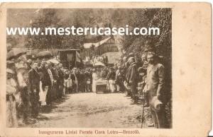 1910_Brezoi, inaugurarea căii (liniei) ferate Brezoi(Brezoiu)-Gara Lotru av_