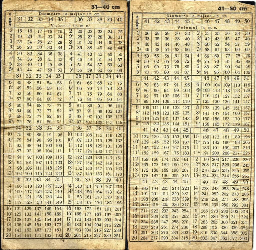 Tabela calcul volum busteni2 31-50